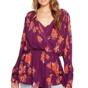 Free People Tuscan Dreams Printed Tunic Top Floral